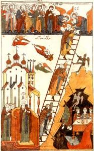Миниатюра из книги Лествица Иоанна Лествичника