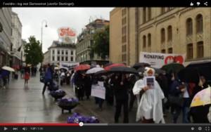 У норвежских посольств прошли акции против изъятия детей из семей